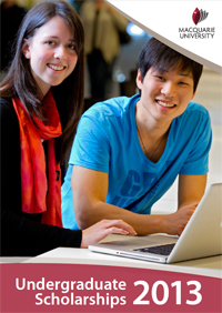 Macquarie University scholarships for undergraduates in 2013
